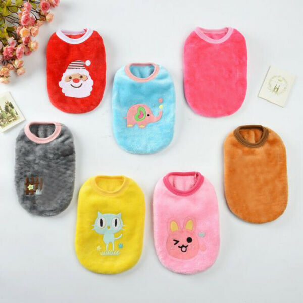 Fleece Warm Vest Pet Dog Clothes Cute Dogs Sweater Pets Clothing For Small Dogs $3.13
