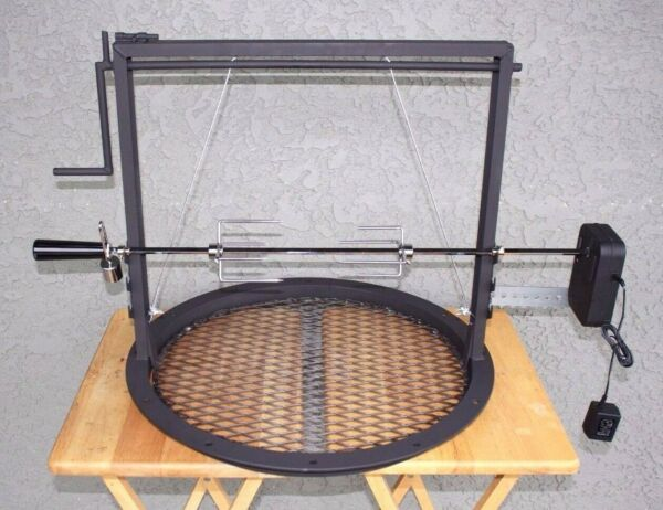 22inch Adjustable Grate Santa Maria Style BBQ with a Rotisserie Kit