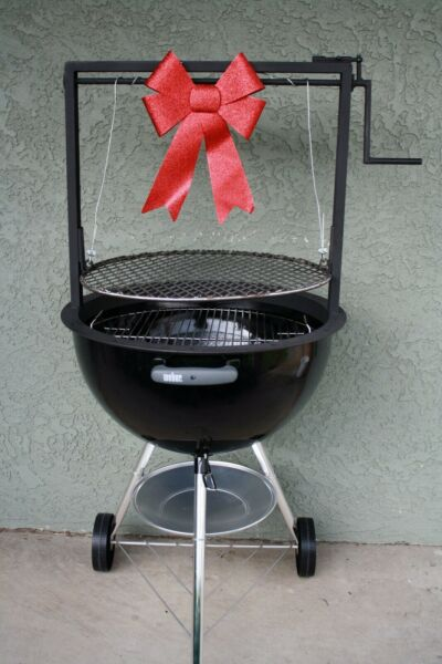 Weber Grill accessories adjustable grate Santa Maria style BBQ 22.5 kettle