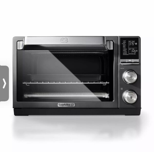 Calphalon Quartz Heat Counter Top Toaster Oven Dark Stainless Steel New