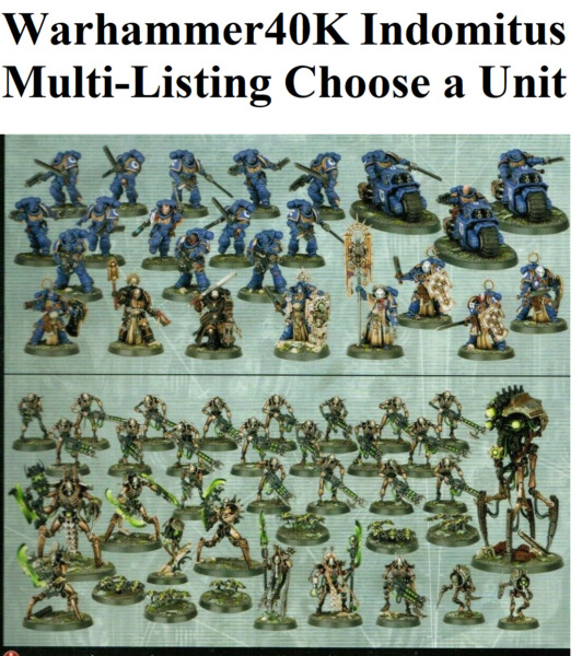 CHEAP Warhammer 40k Indomitus SPACE MARINES NECRONS Set NOS Multi Listing