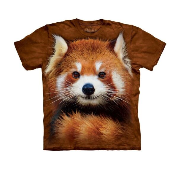 The Mountain Kids Graphic Tee Red Panda Portrait Youth Size M $15.89