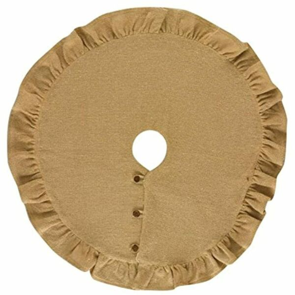 Park Designs Jute Tan Burlap Tree Skirt 24quot; Rustic Christmas Decor Country