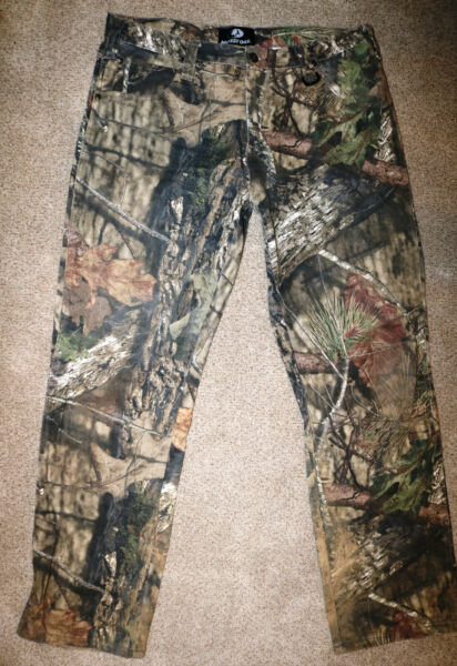Mossy Oak Men#x27;s Break Up Country Camouflage Pants Hunting Camo Size 36 x 34
