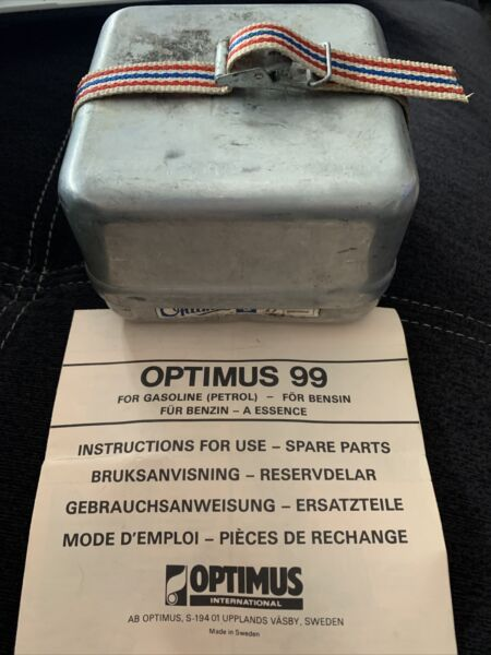 Vintage Optimus 99 Camping Backpacking Gas Stove