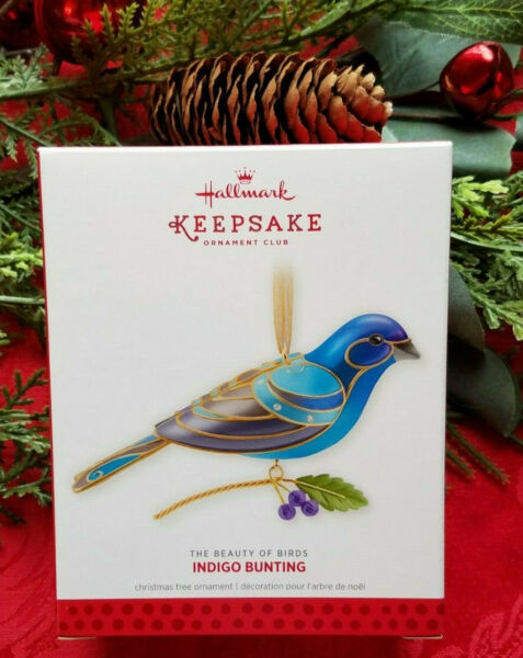 2013 Hallmark Indigo Bunting Beauty of Birds KOC Event Repaint FREE Ship