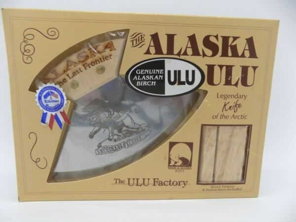 Alaskan Ulu Knife Eagle Bear on Blade Motorcycle Times Anchorage Alaska