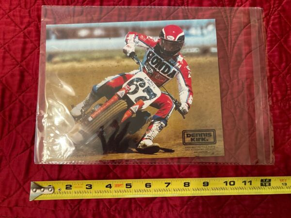 Bubba Shobert Honda FLAT TRACK PROMO PHOTO 8x10quot;