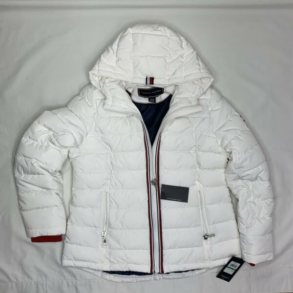 Tommy Hilfiger Women#x27;s Puffer Jacket Size Large New $67.95