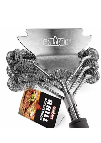 GRILLART Grill Brush Bristle Free Safe BBQ Cleaning Grill Brush and Scraper