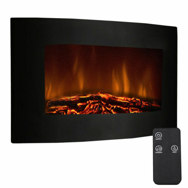35quot; XL Large 1500W Adjustable Electric Wall Mount Fireplace Heater W Remote New