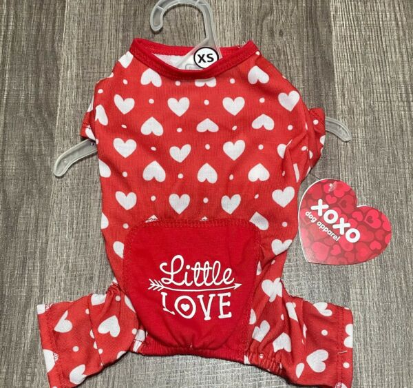 Simply Wag Dog St Valentine Pajamas Of Hearts XSMALL $15.00