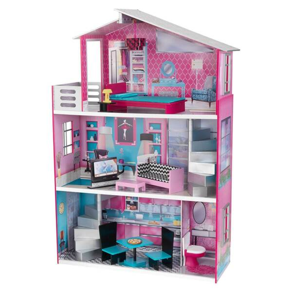 KidKraft Breanna Kids Wooden Dollhouse Furniture for Large 18 Inch Dolls Used $247.49