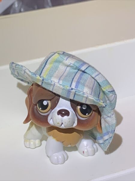 Littlest Pet Shop LPS Dog St. Bernard #229 Brown Eyes with Accessory $5.95