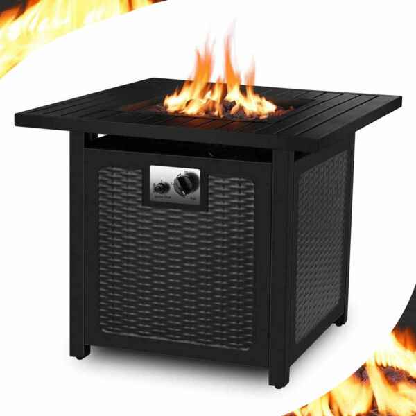 28quot; Propane Gas Fire Pit Table Fireplace Patio Heater Outdoor Backyard Camp Gift