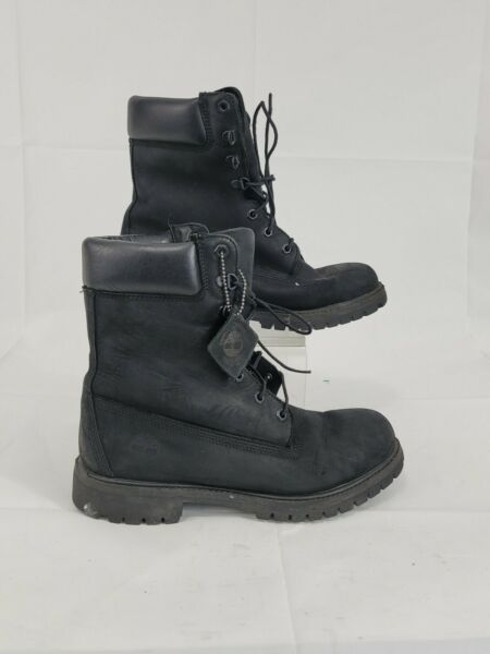Men's Black Timberland Boot 8 Inch 9 Blackout $100.00