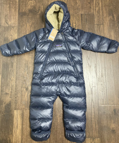 NWT Patagonia Infant Baby Hi Loft Down Bunting Snow Suit Size 6 12 Mo Blue $149