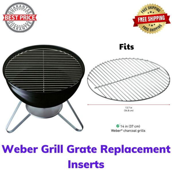 Weber Replacement Grate Fits Weber Tuck N Carry amp; Smokey Joe 14quot; Charcoal Grill