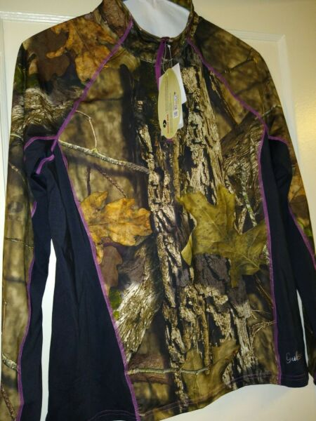 New Mossy Oak Guide series Women#x27;s Long Sleeve 1 4 Zip Performance Shirt XL