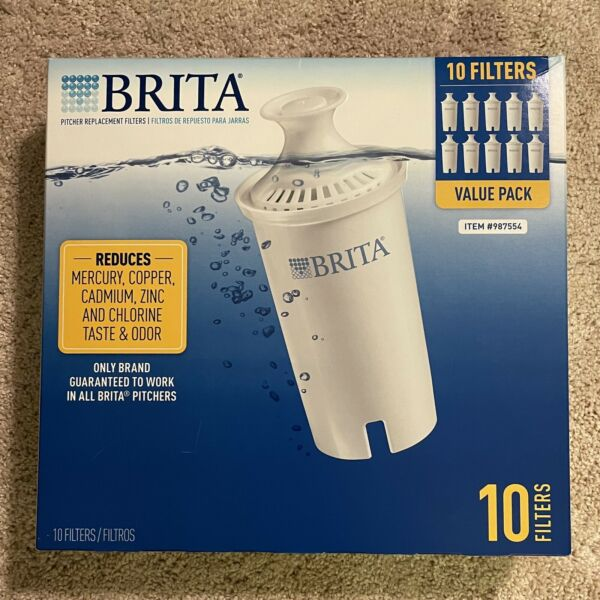 NEW Brita Pitcher Filters 10 Pack Genuine Fits all Models Except the Stream
