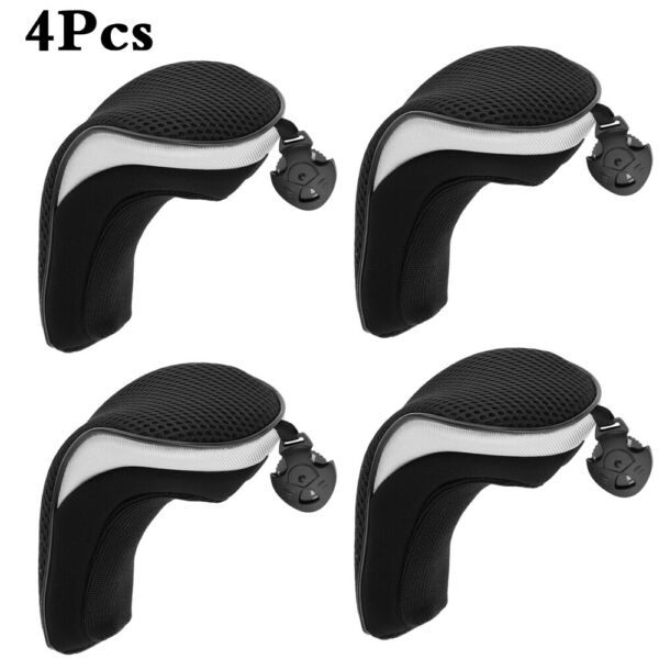 4X Thick Hybrid Golf Club Head Covers Set Headcovers with Interchangeable No.Tag $16.99