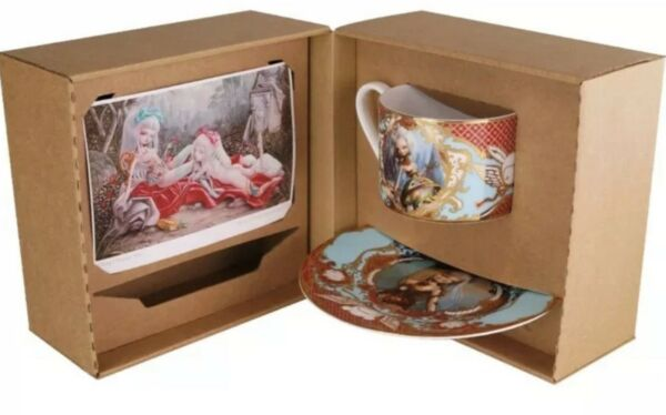 Kukula 24K Tea Cup amp; Saucer Set Limited Edition 11 And 12 Out Of 250 Made