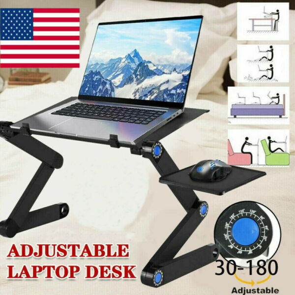 Portable Stand Bed Tray Sofa Adjustable Laptop Table Computer Desk Notebook Tray $26.69