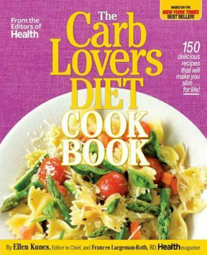 The Carb Lovers Diet Cook Book HB DJ Free Ship $7.88