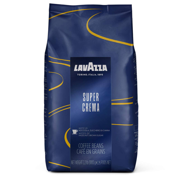 Lavazza Super Crema Whole Bean Coffee Blend Medium Espresso Roast 2.2 Pound P