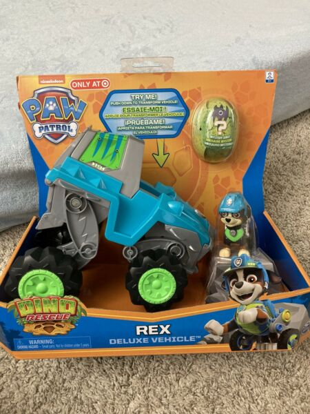 Paw Patrol DINO RESCUE REX Deluxe Vehicle Target Exclusive Puppy Dinosaur NEW