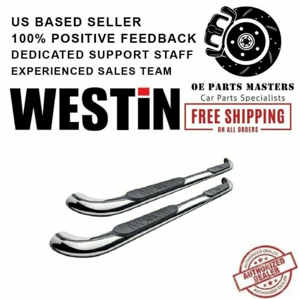 Westin 3quot;Polished Stainless For 05 10 Grand Cherokee E Series Round Nerf Bars