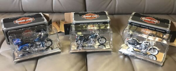 Maisto Harley Davidson 1:18 Motorcycle set lot of 3 with BOXES $17.99