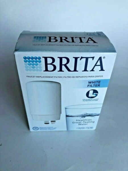Brita Faucet Replacement FILTER White FR 200 Fits In All Brita Faucet Systems