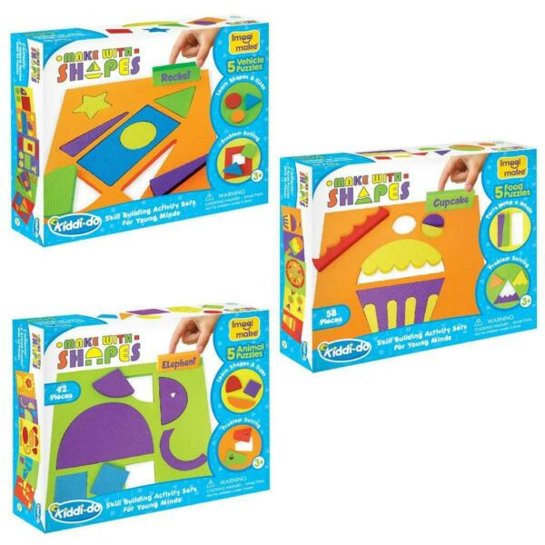 Low Cost 3 Kids activity learning knowledge set shapes vehicles food animals $29.00