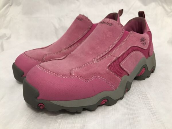 Timberland Pink Leather Walking Hiking Shoes Women#x27;s Size 6 $27.99