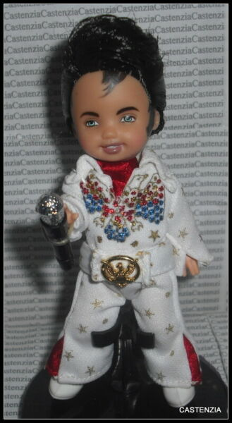 **DRESSED LFOK KELLY BARBIE DOLL ELVIS THE KING OF ROCK RAVEN TOMMY FOR DIORAMA $15.96