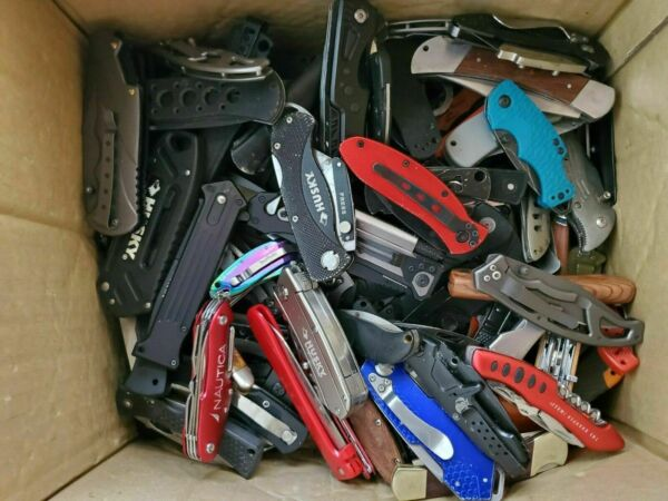 Wholesale Lot of Pocket Folding Knives Grab Bag Gerber Buck Browning SOG 2 Lbs