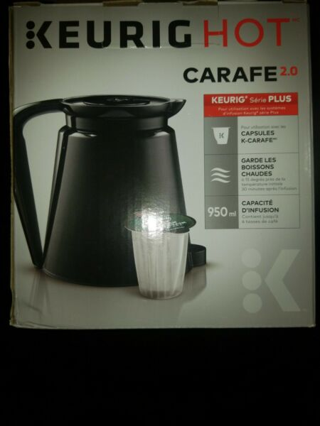 KEURIG HOT Replacement Carafe 2.0 Series PLUS Black