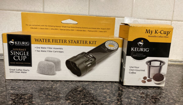 Keurig Parts One Water Filter Assembly Two Water Filter Cartridges Coffee Filter