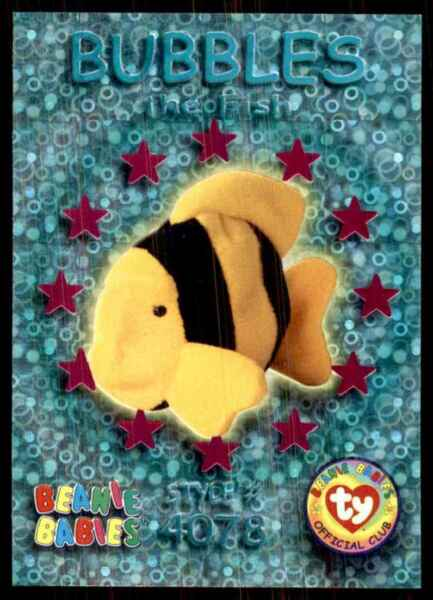 1999 Beanie Babies Series III Wild Cards Magenta Bubbles The Fish #55 $3.00