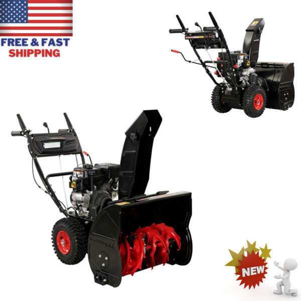 24 in. Two Stage Gas SNOW BLOWER With Electric Start Gas Powered Self Propelled