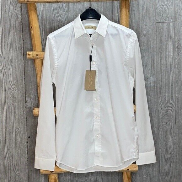 Burberry Men#x27;s Uniform White Dress Shirt $114.99
