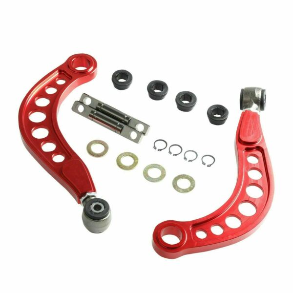 FOR 06 15 HONDA CIVIC 1.8L 2.0L REAR UPPER CAMBER CORRECTION KIT ANODIZED RED