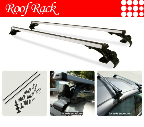 Fit Volkswagen Volvo Naked Rooftop Rack Aluminum Cross Bars Luggage Carrier $72.80