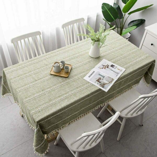 Rectangle Table Cloth for 4 ft Table Cotton Linen Tablecloths55 x 86 Inch