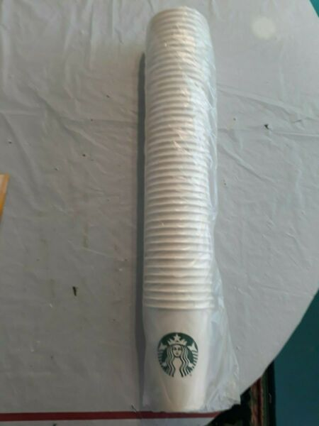 STARBUCKS disposable PAPER CUPS 83 Tall CUPS 12 oz First Sip