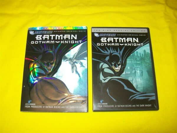 BATMAN GOTHAM KNIGHT DVD WITH SLIPCOVER 2 DISC SPECIAL EDITION WITH INSERT $5.95