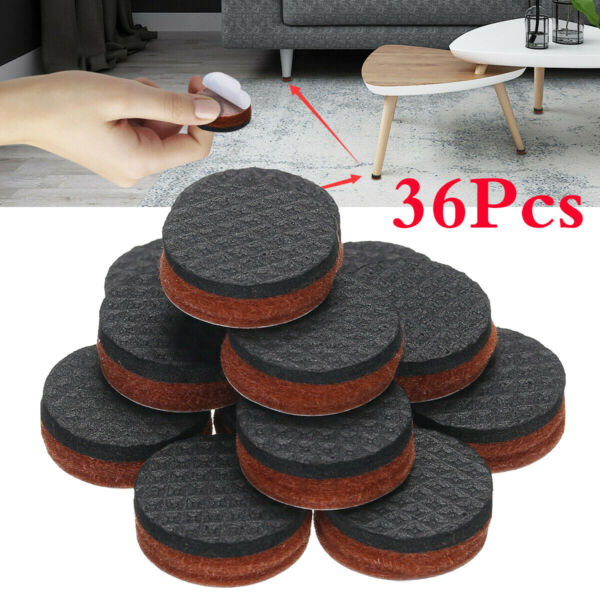 36pcs Non Slip Felt Pads For Furniture Floor Protectors Table Chair Feet Leg USA $6.59