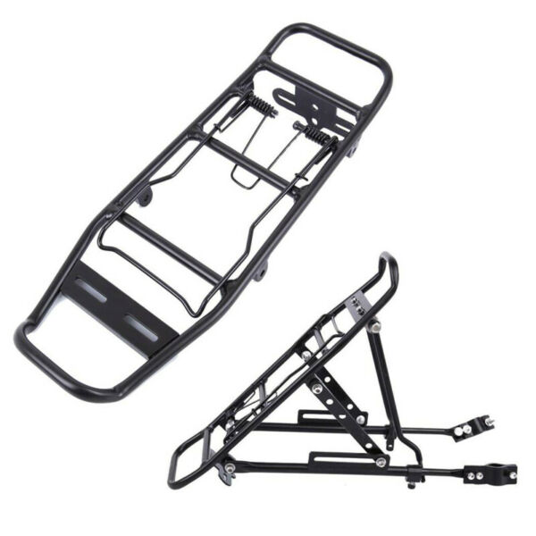 110lb Rear Bike Rack Bicycle Cargo Rack Pannier Luggage Carrier Holder Seat Fram $19.39