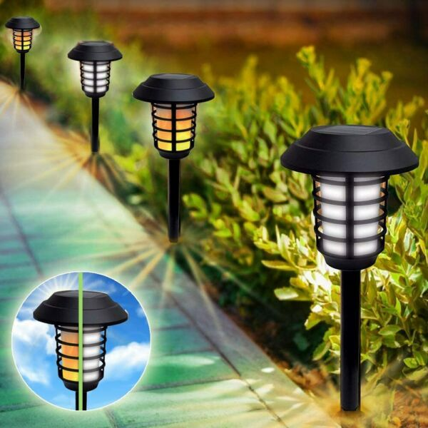 Bell Howell Outdoor Solar Powered 2 in 1 Pathway and Garden Lights 4 Pack $39.99